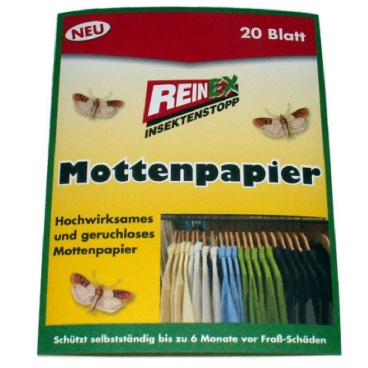Reinex Kleidermottenpapier