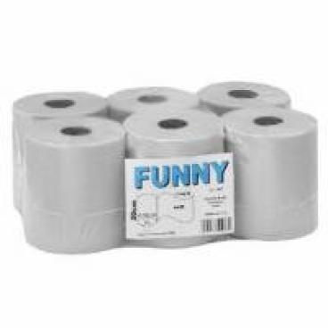 Rollenhandtuchpapier, 1-lagig, weißlich 1 Paket = 6 Rollen à ca. 320 Meter