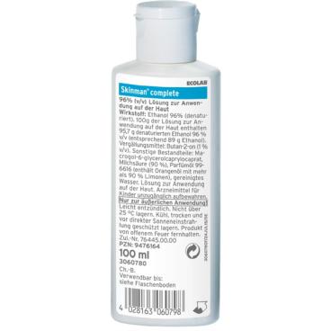 ECOLAB Skinman® complete Händedesinfektionsmittel 100 ml - Kittel-/ Taschenflasche