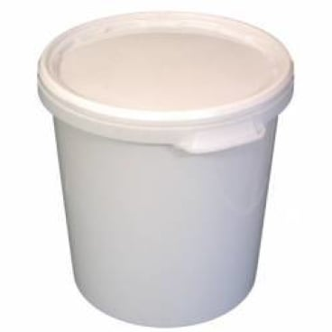 Kunststoffeimer Hobbock mit Deckel, 30 Liter, weiß