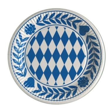 Papstar Bayrisch Blau Teller, Pappe