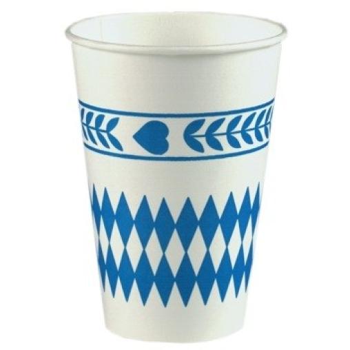 Papstar Bayrisch Blau Trinkbecher, Pappe