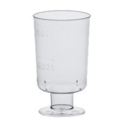 Papstar Stiel-Gläser für Schnaps mit Füß