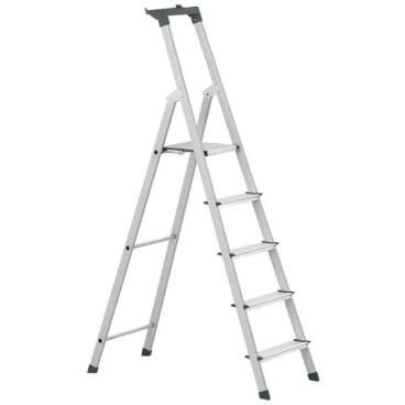 Zarges Z200 Stufen-Stehleiter mit Brücke & Ablageschale 3 Stufen, Plattformhöhe: 59 cm