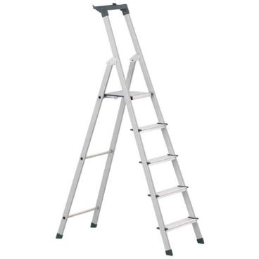 Zarges Z200 Stufen-Stehleiter mit Brücke & Ablageschale 5 Stufen, Plattformhöhe: 103 cm