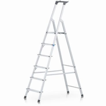 Zarges Scana S Stufen-Stehleiter 6 Stufen, Plattformhöhe: 124 cm