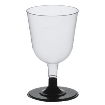 Papstar Stiel-Gläser für Weisswein, Polystyrol