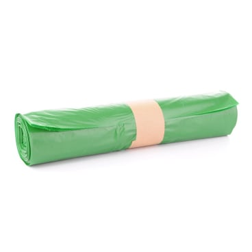 Müllsäcke 120 Liter, grün, Typ 60 1 Karton = 10 Rollen à 25 Stück