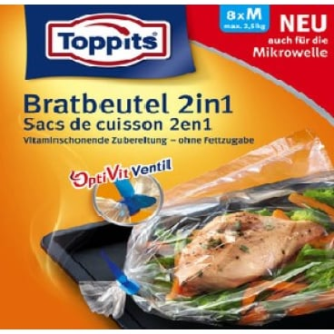 Toppits® Aroma Bratbeutel 2in1 M